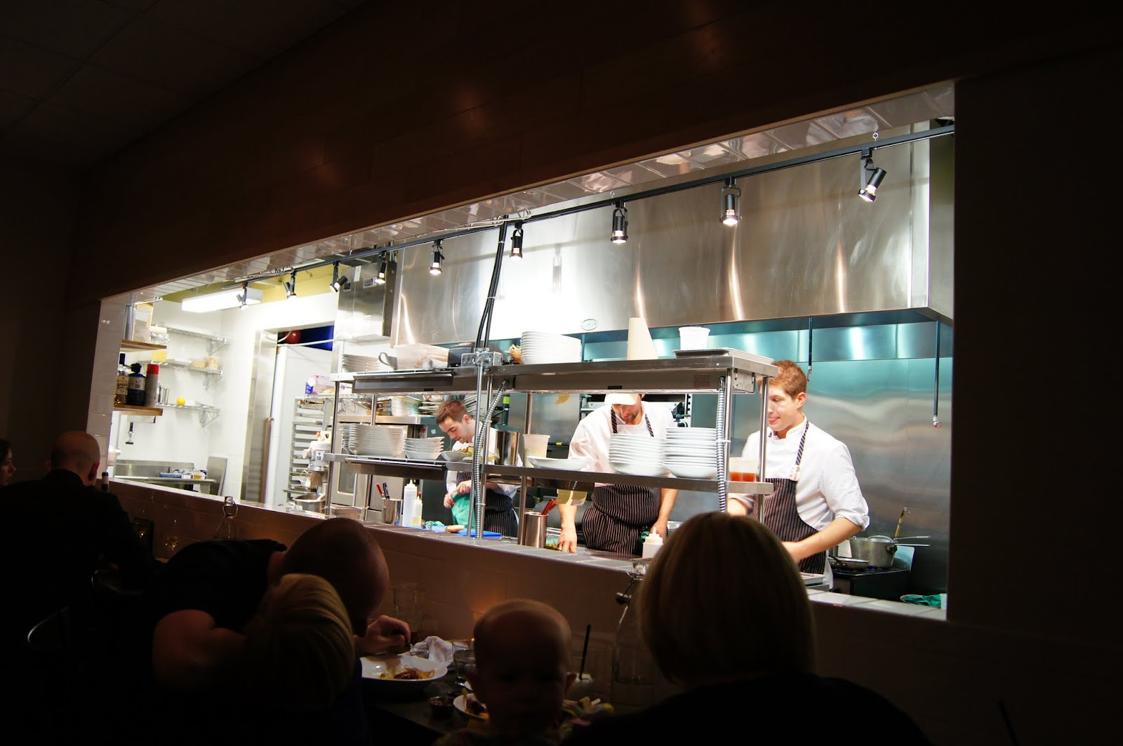 Mashed thoughts an epic dinner at richmond station toronto on the chefs table is right along the wall under the kitchen window it was full by the time we reserved so we were seated at a smaller table but still right workwithnaturefo