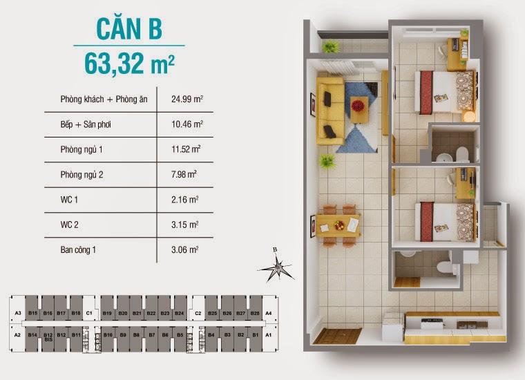 Bán căn hộ 8X Plus mặt đường Trường Trinh giá chỉ từ 12,3 triệu / m2 16