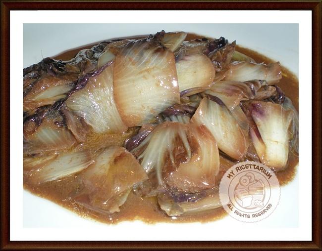 Radicchio con alici in salsa piccante