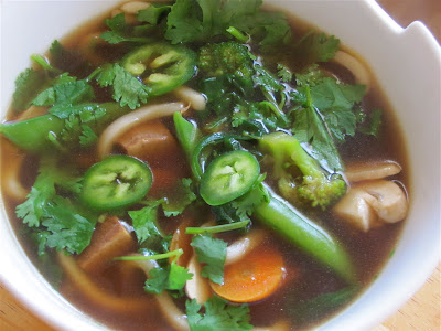 Albion Cooks: Udon Noodle Soup with Greens & Tofu
