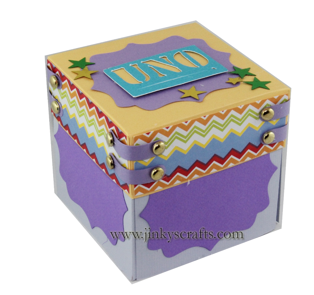Jinky's Crafts & Designs: 1st Birthday Exploding Box Album