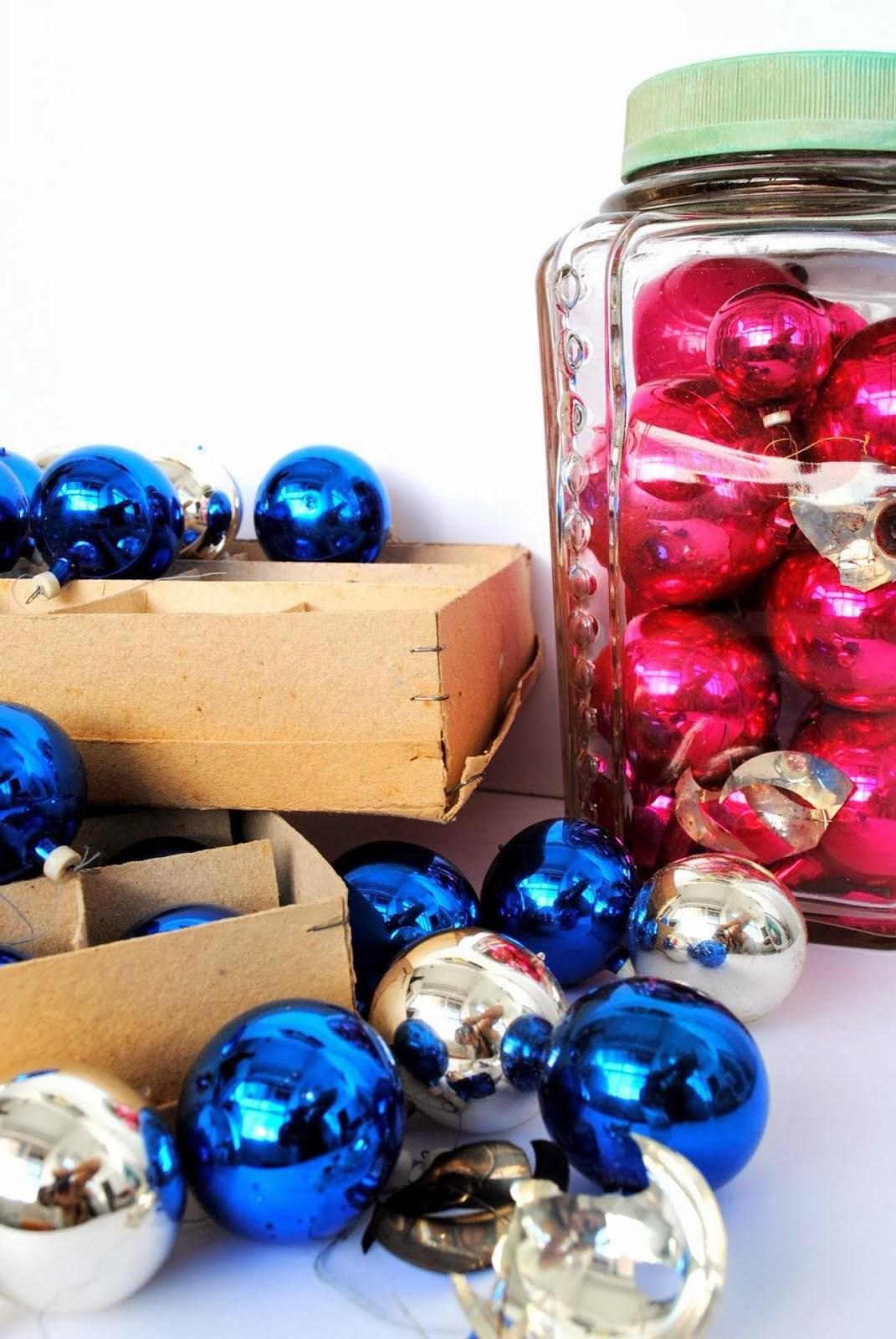 Vintage bolas de Natal