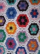 tæppe af afrikanske blomster