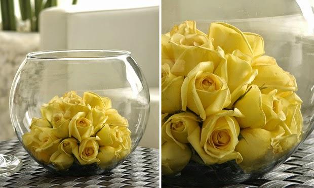 dicas e idéias para sua casa - arranjo rosas