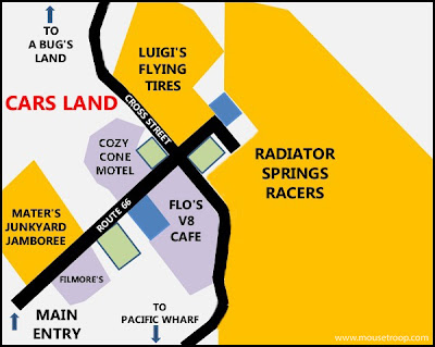 Cars Land Map Carsland layout