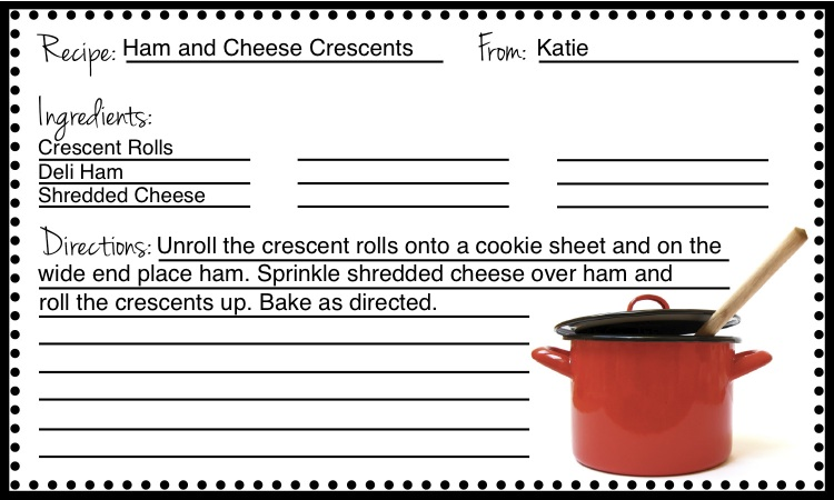free fillable recipe card templates