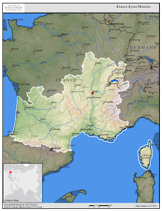 France Lyon Mission Map