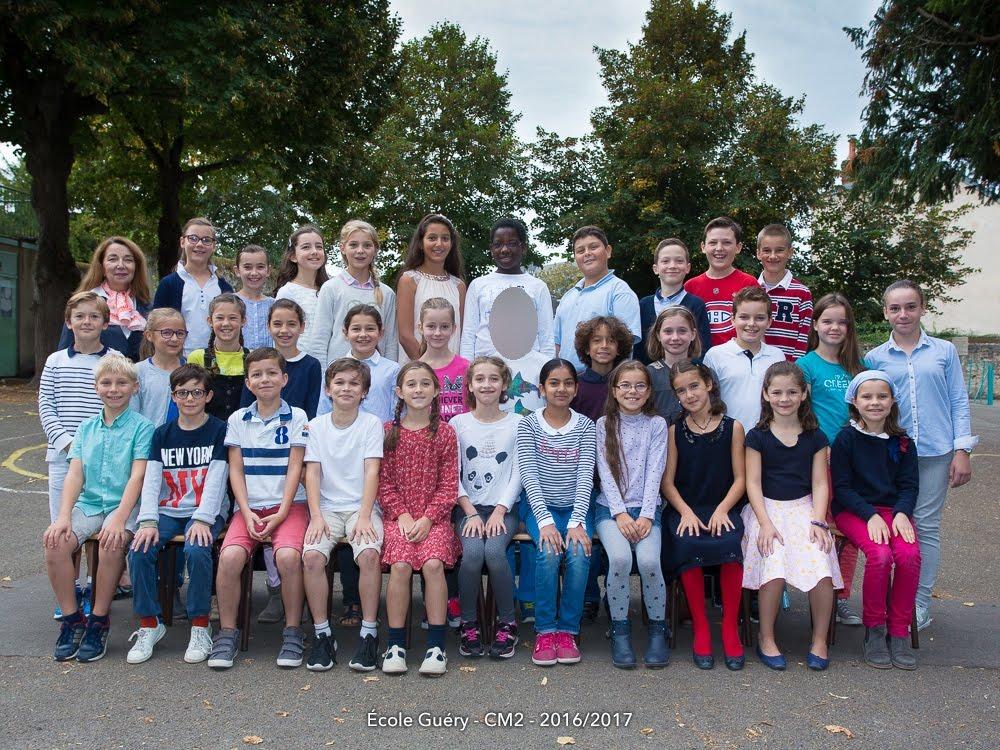 Classe de CM2, école Guéry, Chartres année 2016-2017