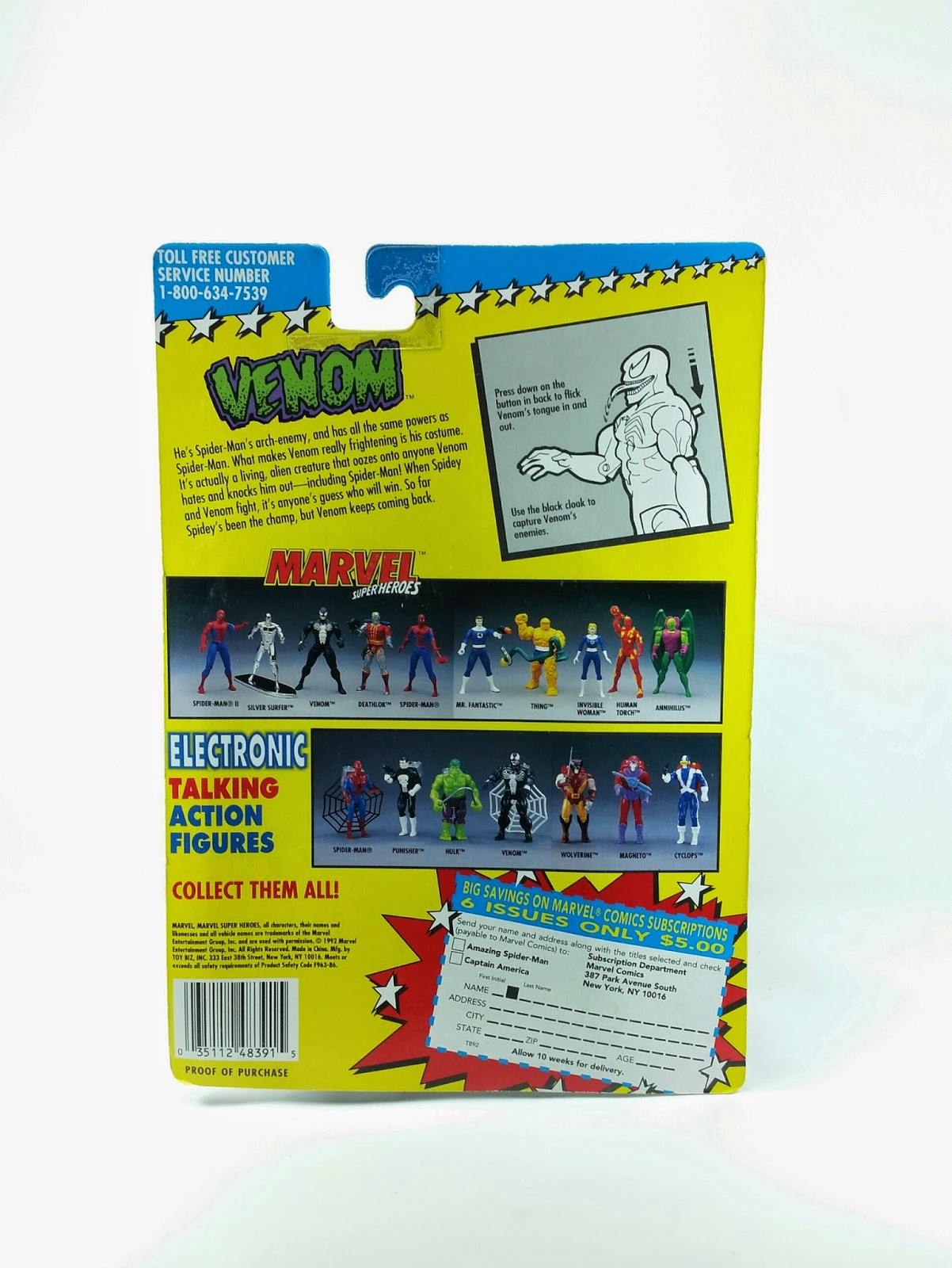 Venom Flicking Tongue Action Figure Toy Biz