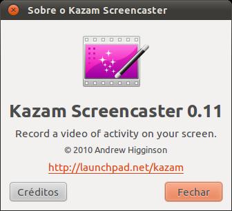 Kazam Screencaster 0.11