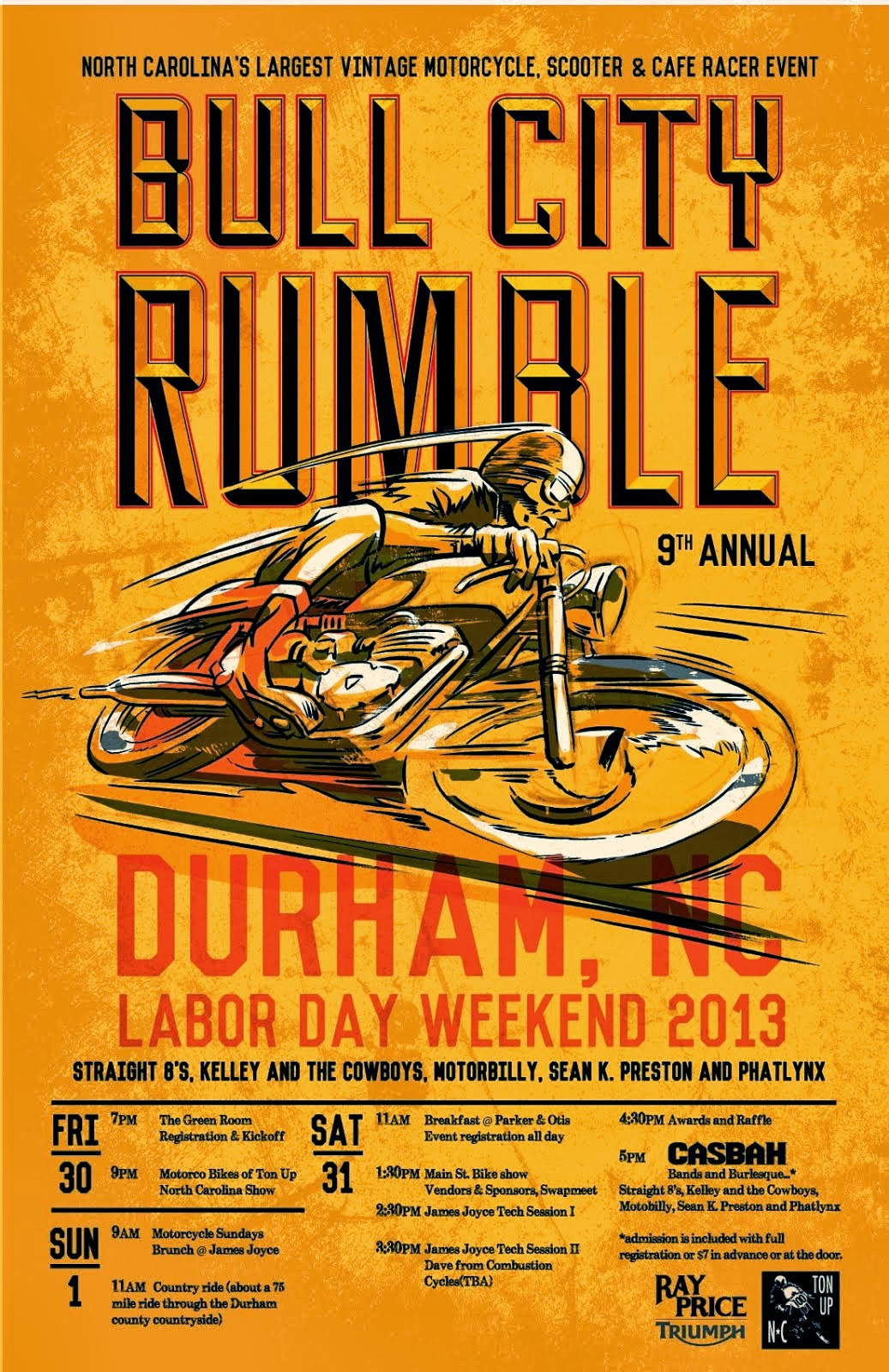 2013 Bull City Rumble Poster