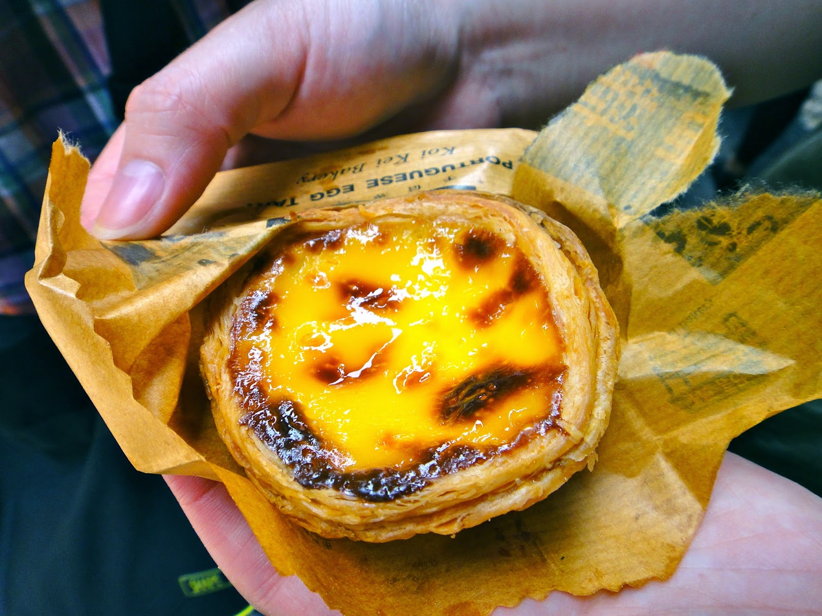 Macau Egg Tart sold at Senado Square Macau