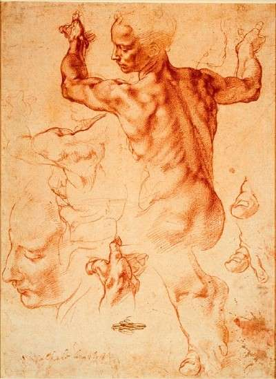 Michelangelo-Study for the Libyan Sibyl