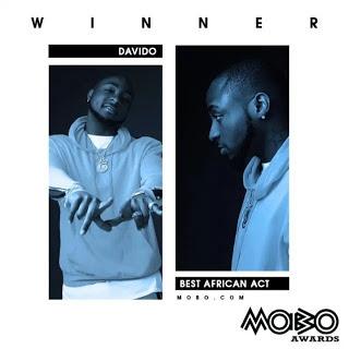 Davido wins 2017 MOBO awards Best African Act