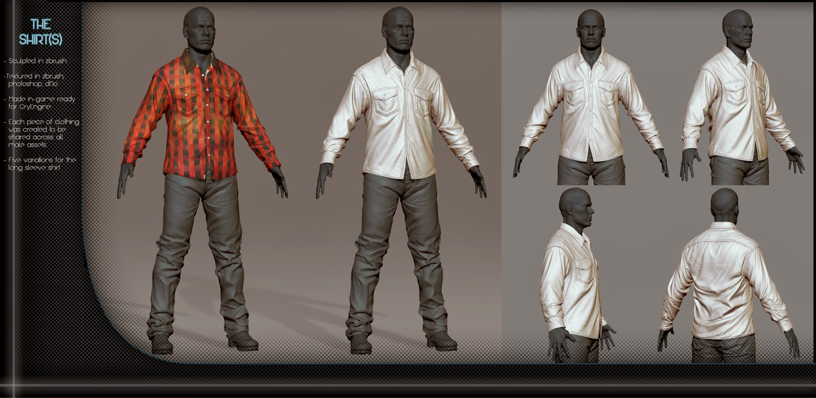 Male Clothing Designer Game piece of clothing was made