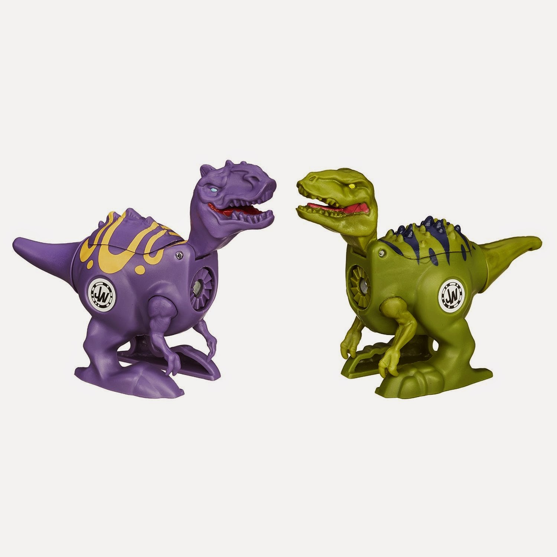 JUGUETES - JURASSIC WORLD : Brawlasaurs  VelociRaptor vs. Allosaurus  Toys | Producto Oficial Película 2015 | Hasbro B1153  A partir de 4 años