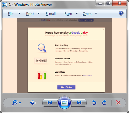 Windows7 Photo Viewer Yellow Color