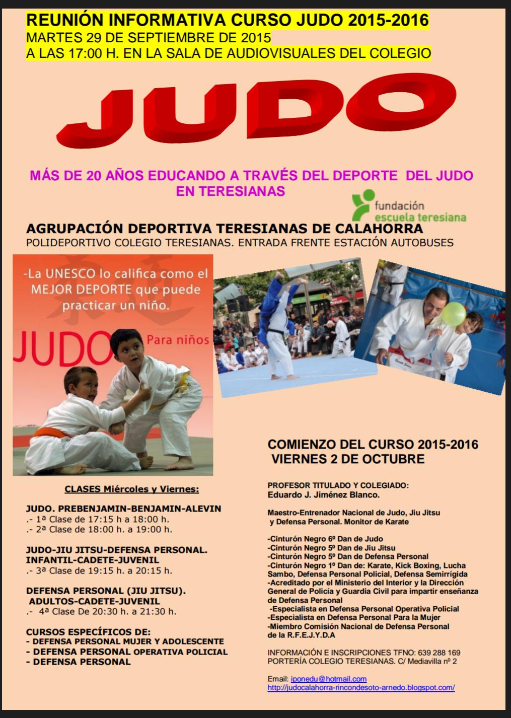 REUNIÓN INFORMATIVA JUDO TERESIANAS CURSO 2015-2016