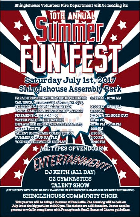 7-1 Summer Fun Fest, Shinglehouse VFD