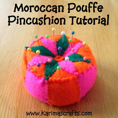 moroccan pouffe pincushion tutorial muslim blog