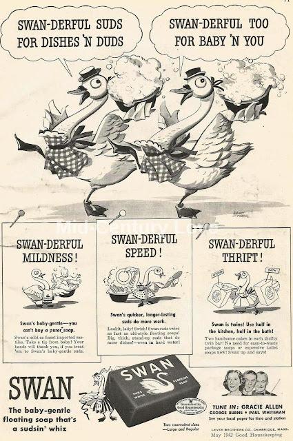 vintage Swan soap ad 1942