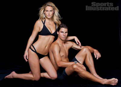 Rafa Nadal y Bar Refaeli para Sports Illustrated