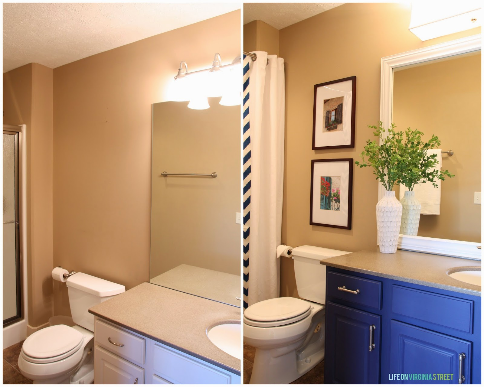 Guest bathroom lighting and framing a builder grade for Bathroom builders