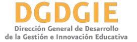 DIRECCION GENERAL DE DESARROLLO DE LA GESTIÓN E INNOVACIÓN EDUCATIVA