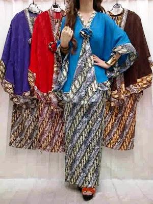model baju muslim pesta batik
