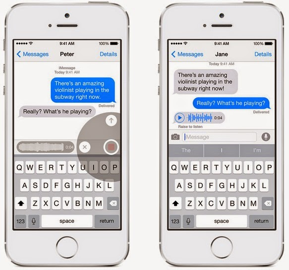 Apple iOS 8 - Messages