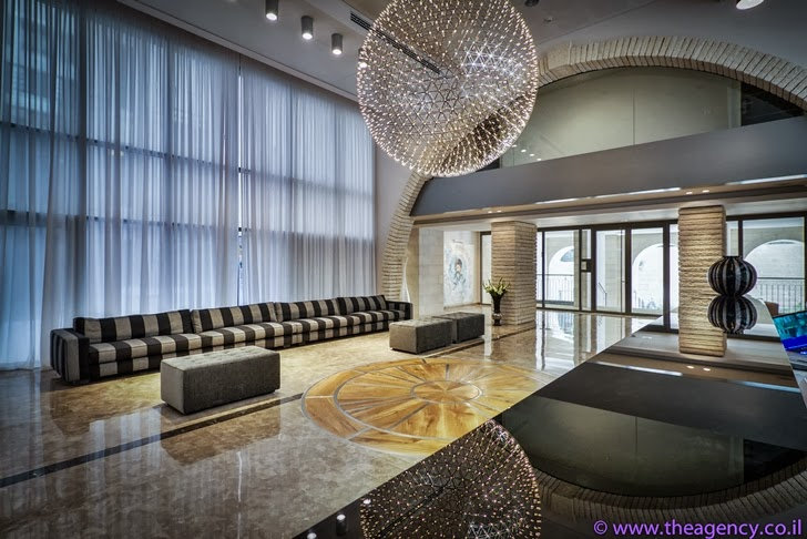 "Lobby of an Elegant ""Jerusalem Dreams"" Penthouse Apartment"