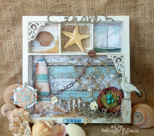 nautical  beach themed wall art  bobunny