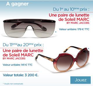 Jeux concours Elle Solaris 30 paires de lunettes de soleil à gagner