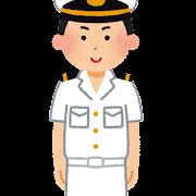 海上自衛隊の男性のイラスト