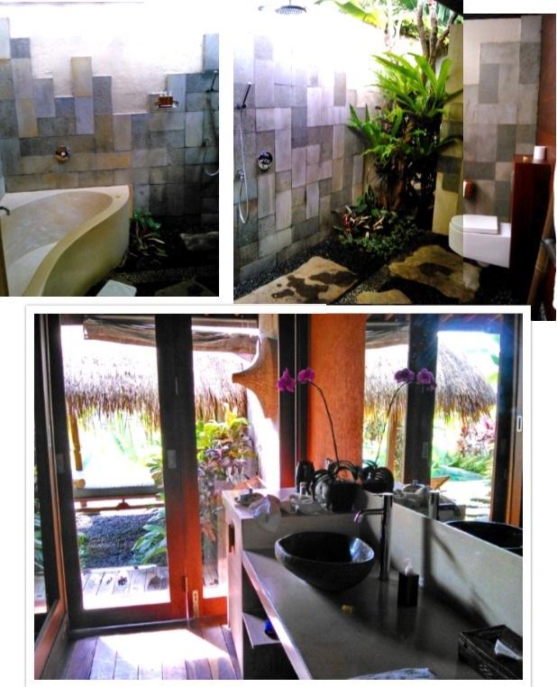 cuarto de baño ubud padi villas
