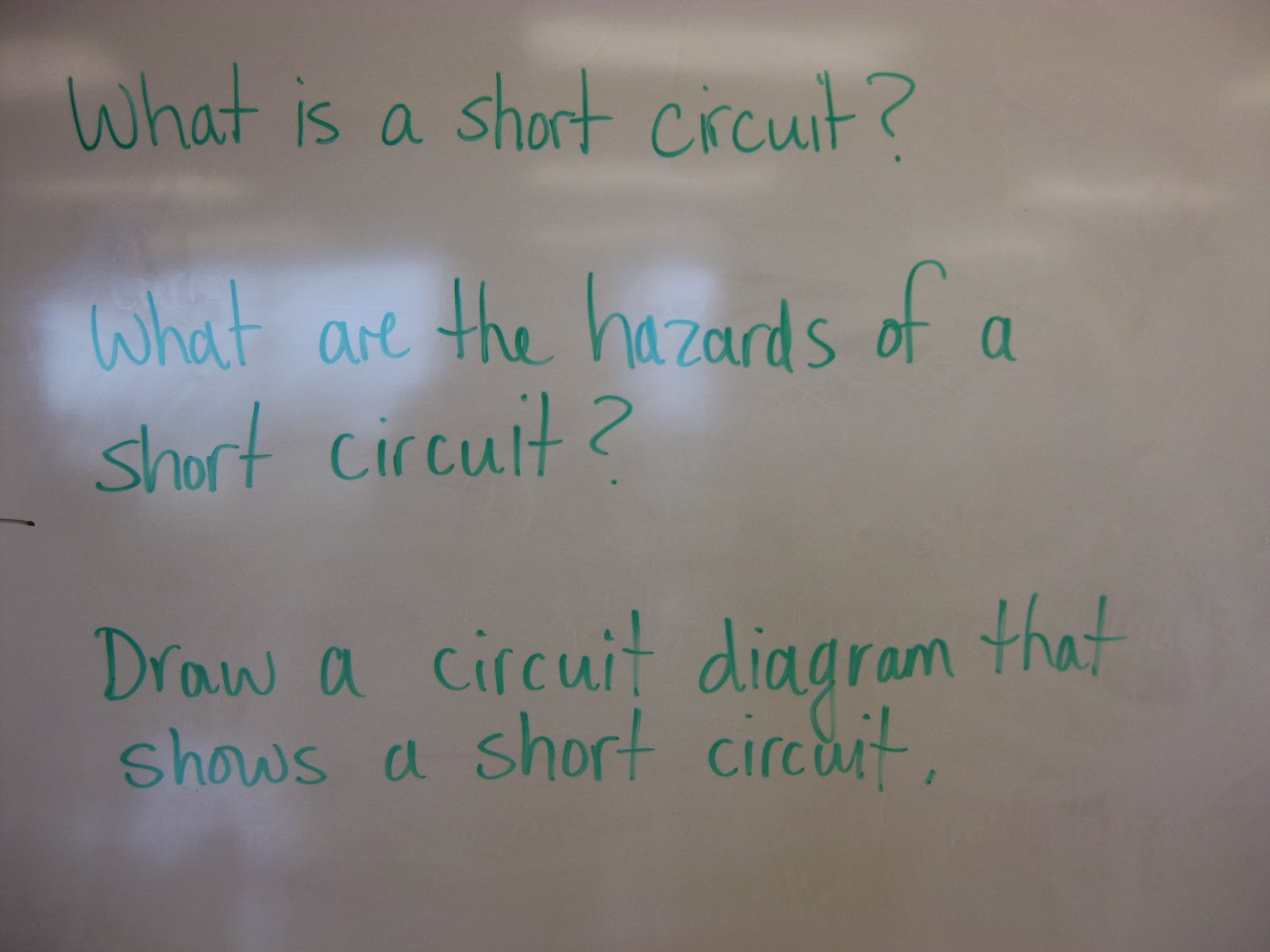 What Did We Do Today 2012 04 08 Circuit Diagram Test Questions Reviewed Happens To Current In A Series Went Over Experimental Design Parallel