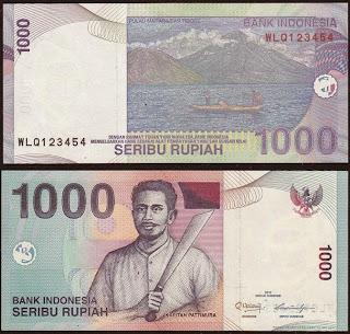 Pecahan 1000 Rupiah tahun 2000