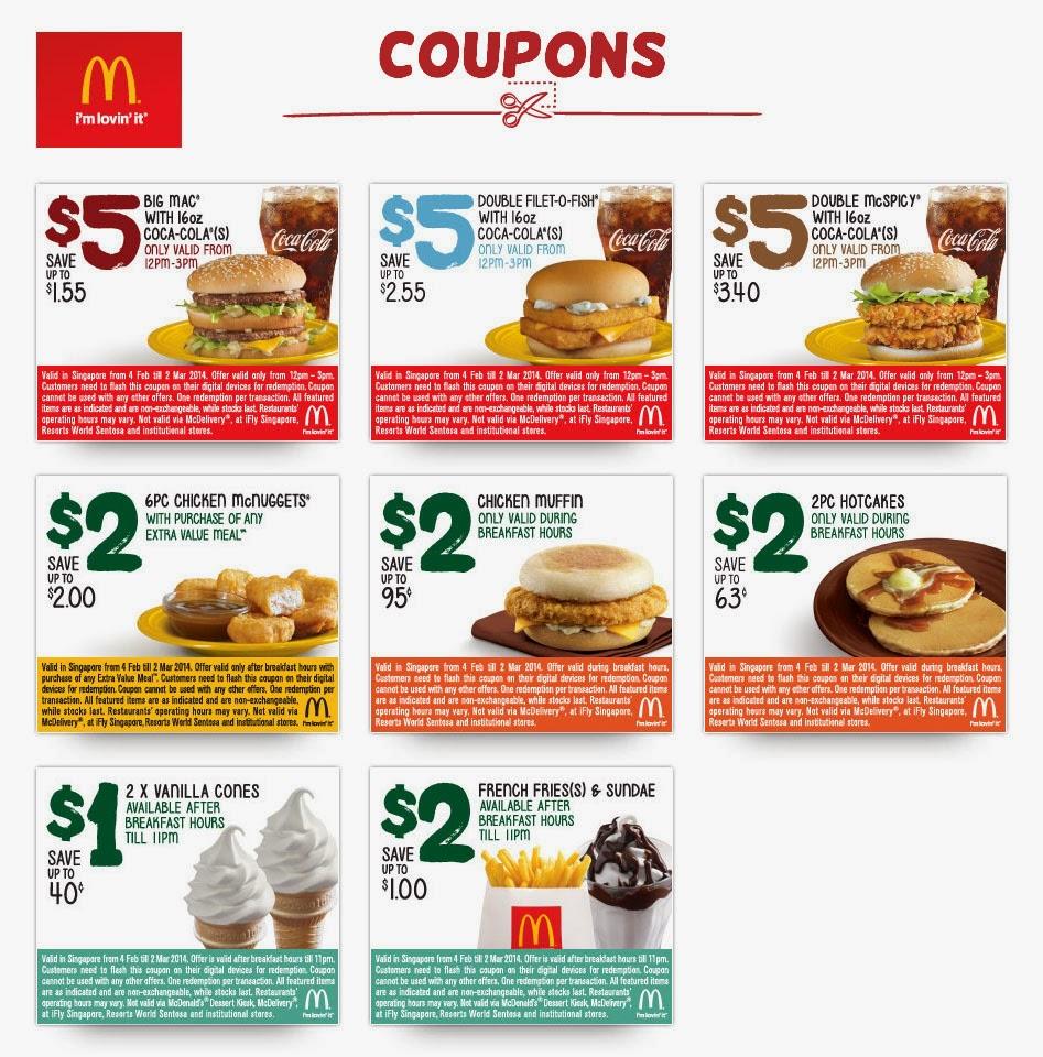 Mcdonalds online coupons uk