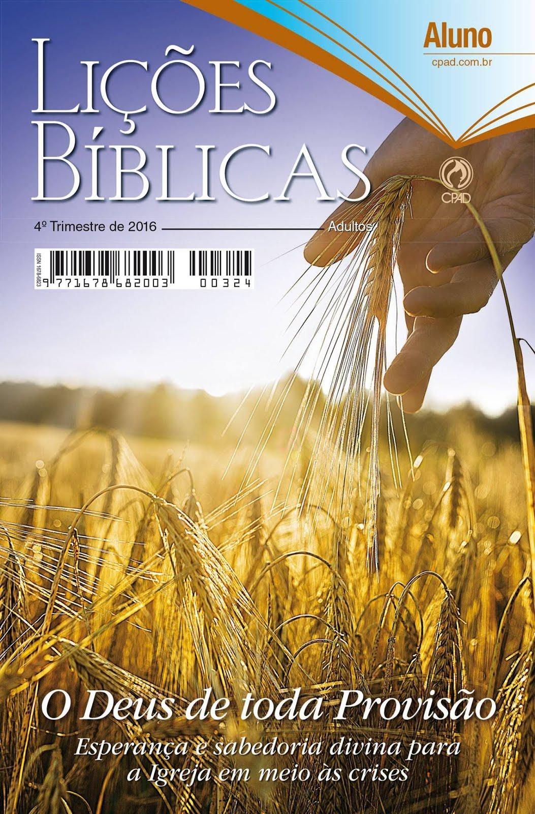 Lições Biblicas 2016