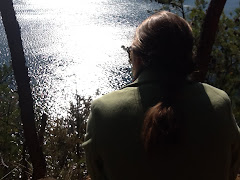 Kelly looking out over the lake - South Holston