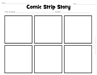printable blank comic strip template for kids - i love 2 teach literacy centers free printable