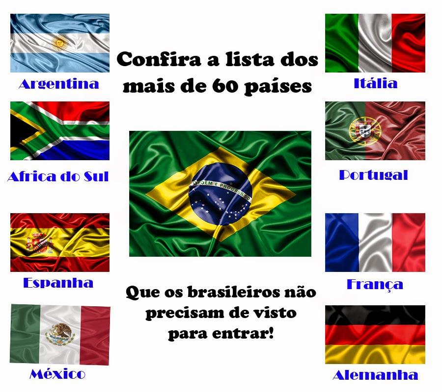 Confira a lista dos mais de 60 países que os brasileiros não precisam de visto para entrar