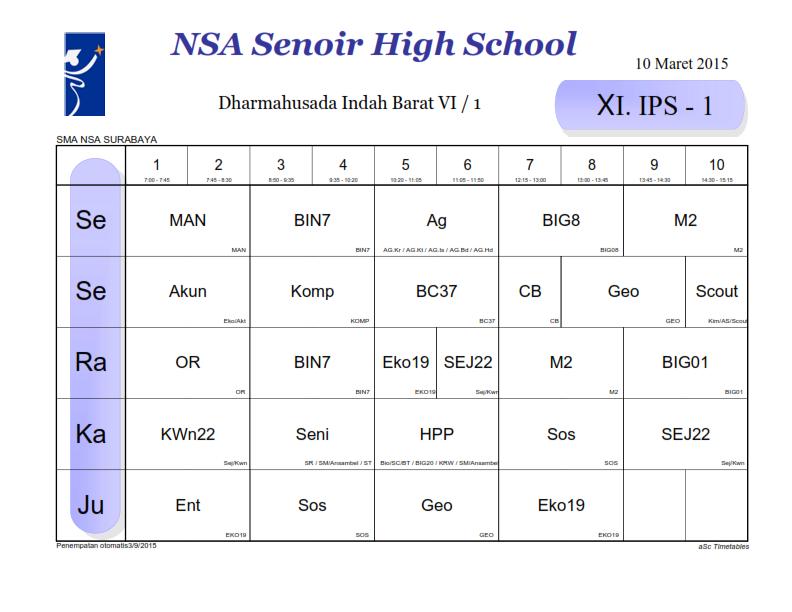 Kelas Xi Ips 1