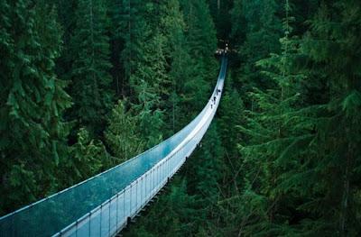 Puente suspendido de Capilano, Vancouver, British Columbia, Estados Unidos