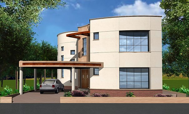 3d Front Elevation Of Small Houses : D front elevation marla plan layout small house