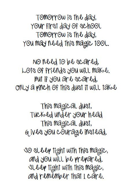 First Day at School Poem