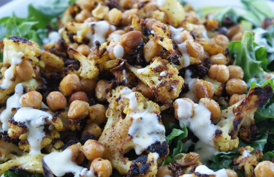Roasted Cauliflower Salad Spice roasted cauliflower
