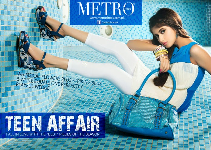 Sajal Ali photoshoot in Metro shoes