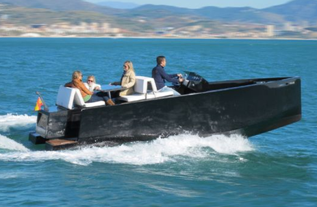 d23 luxury motor boat with hidden outboard tender