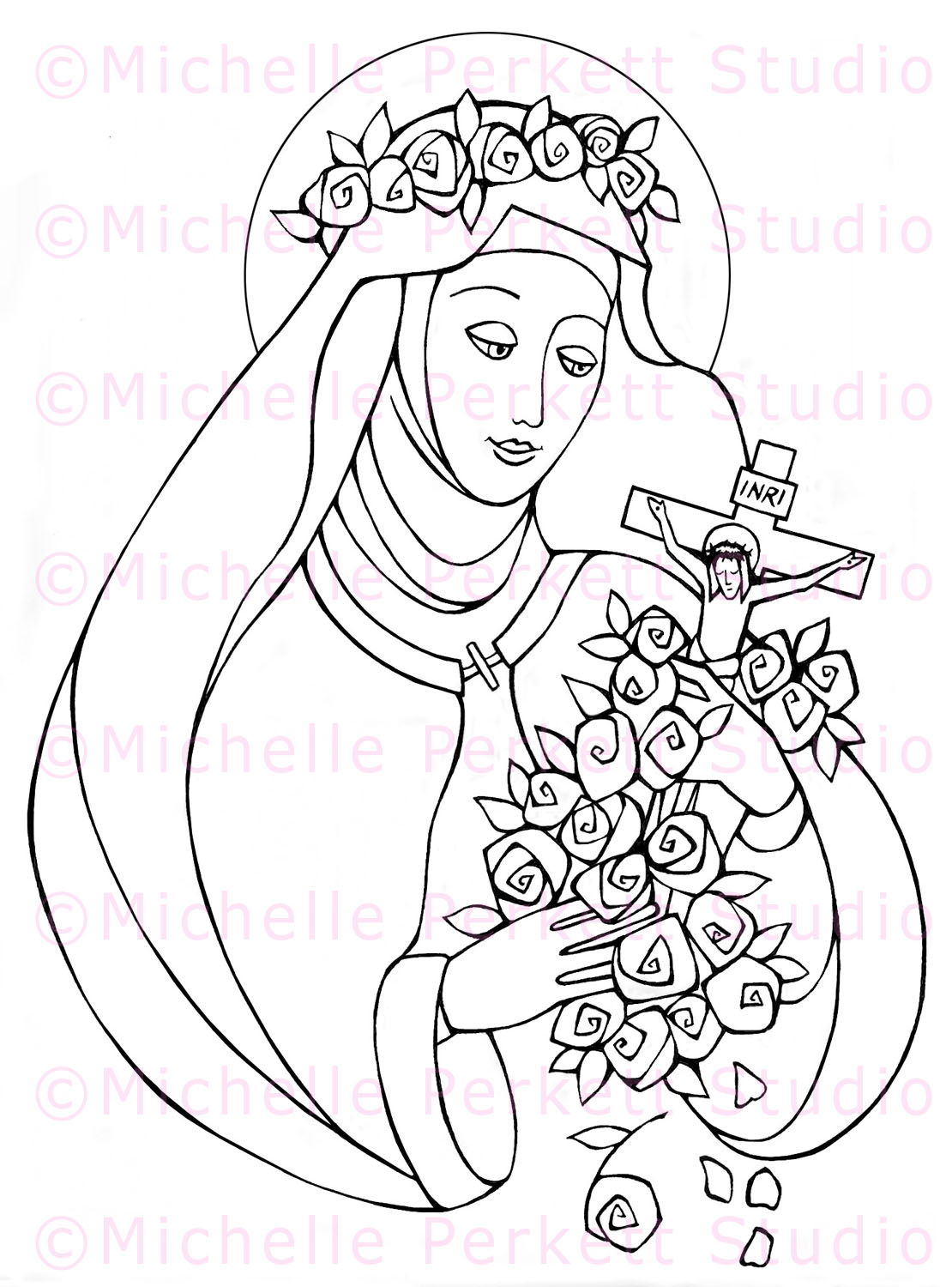 therese of lisieux coloring pages - photo#5